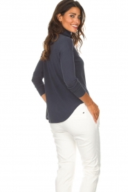 Blaumax |  Turtleneck top Ilona | blue  | Picture 5