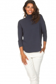 Blaumax |  Turtleneck top Ilona | blue  | Picture 2