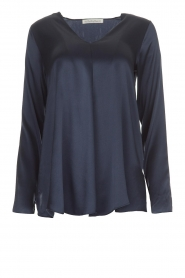 Blaumax |  Silk top Lorena | navy  | Picture 1