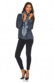 Blaumax |  Silk top Lorena | navy  | Picture 3