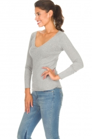 BLAUMAX |  Sweater Fedder | light grey  | Picture 3