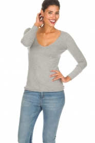 BLAUMAX |  Sweater Fedder | light grey  | Picture 2