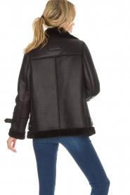 OAKWOOD |  Faux lammy coat Mandy | black  | Picture 5