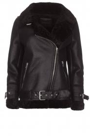 OAKWOOD |  Faux lammy coat Mandy | black  | Picture 1