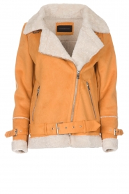 OAKWOOD |  Faux lammy coat Mandy | yellow  | Picture 1