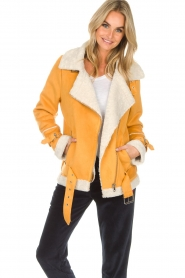 OAKWOOD |  Faux lammy coat Mandy | yellow  | Picture 2