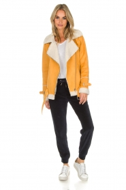 OAKWOOD |  Faux lammy coat Mandy | yellow  | Picture 3