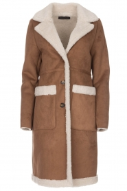 OAKWOOD |  Faux lammy coat Annelies | brown  | Picture 1