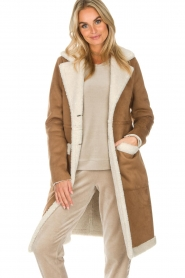 OAKWOOD |  Faux lammy coat Annelies | brown  | Picture 2