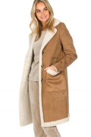OAKWOOD |  Faux lammy coat Annelies | brown  | Picture 4