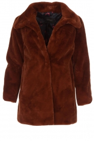 OAKWOOD |  Faux fur coat Luna | red  | Picture 1