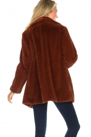 OAKWOOD |  Faux fur coat Luna | red  | Picture 6