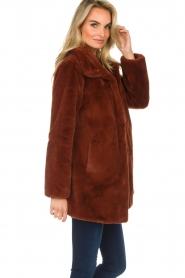 OAKWOOD |  Faux fur coat Luna | red  | Picture 5