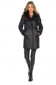 OAKWOOD |  Faux lammy coat Timer | blue  | Picture 3