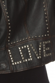 OAKWOOD |  Leather biker jacket with studs Sydney | black  | Picture 6