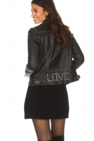 OAKWOOD |  Leather biker jacket with studs Sydney | black  | Picture 5