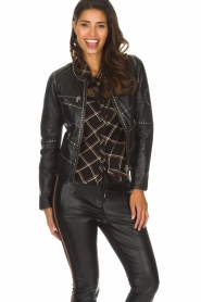 OAKWOOD |  Biker jacket with studs Cleo | black  | Picture 4