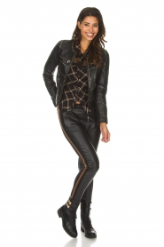 OAKWOOD |  Biker jacket with studs Cleo | black  | Picture 5