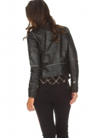 OAKWOOD |  Biker jacket with studs Cleo | black  | Picture 3
