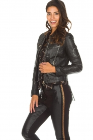 OAKWOOD |  Biker jacket with studs Cleo | black  | Picture 2