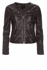OAKWOOD |  Biker jacket with studs Cleo | black  | Picture 1
