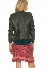 OAKWOOD |  Leather biker jacket Summertime | black  | Picture 5