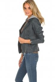OAKWOOD |  Leather biker jacket Emily | blue  | Picture 4