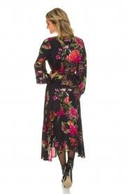 Hale Bob | Lange jurk met bloemenprint Yael | zwart  | Afbeelding 5