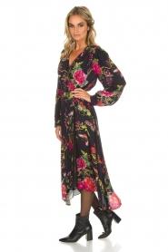 Hale Bob | Lange jurk met bloemenprint Yael | zwart  | Afbeelding 4