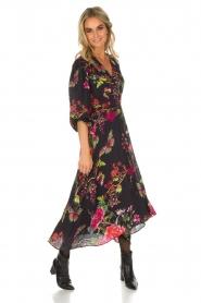 Hale Bob | Lange jurk met bloemenprint Yael | zwart  | Afbeelding 6
