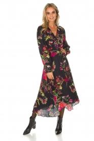 Hale Bob | Lange jurk met bloemenprint Yael | zwart  | Afbeelding 2