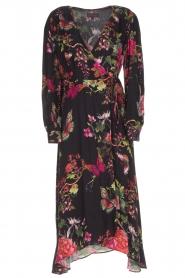 Hale Bob |  Long dress with floral print Yael | black  | Picture 1