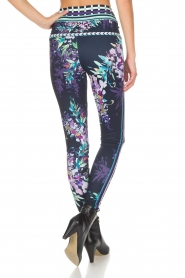 Hale Bob |  Floral printed leggings Eveline | blue  | Picture 4