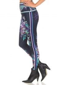 Hale Bob |  Floral printed leggings Eveline | blue  | Picture 5