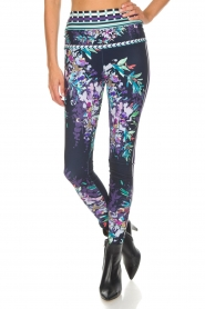 Hale Bob |  Floral printed leggings Eveline | blue  | Picture 3