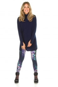 Hale Bob |  Floral printed leggings Eveline | blue  | Picture 2