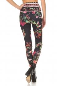 Hale Bob |  Floral printed leggings Eveline | black  | Picture 5