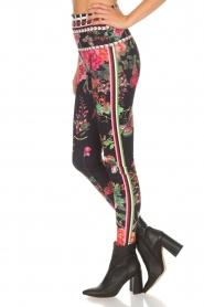 Hale Bob |  Floral printed leggings Eveline | black  | Picture 4