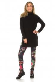 Hale Bob |  Floral printed leggings Eveline | black  | Picture 2