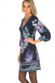 Hale Bob |  Dress with floral print Ruth | blue  | Picture 4