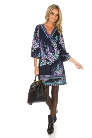 Hale Bob |  Dress with floral print Ruth | blue  | Picture 3
