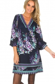 Hale Bob |  Dress with floral print Ruth | blue  | Picture 2