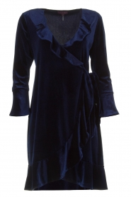 Hale Bob |  Velvet wrap dress Lexa | blue  | Picture 1