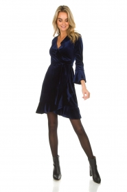 Hale Bob |  Velvet wrap dress Lexa | blue  | Picture 3