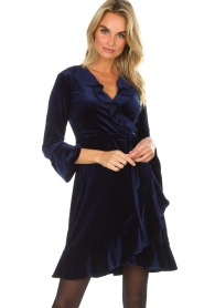 Hale Bob |  Velvet wrap dress Lexa | blue  | Picture 2