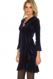 Hale Bob |  Velvet wrap dress Lexa | blue  | Picture 5