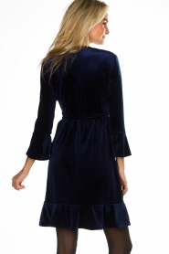 Hale Bob |  Velvet wrap dress Lexa | blue  | Picture 6