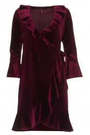 Hale Bob |  Velvet wrap dress Lexa | bordeaux  | Picture 1