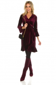 Hale Bob |  Velvet wrap dress Lexa | bordeaux  | Picture 3