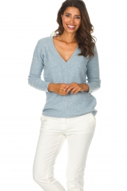 Be Pure |  Sweater Pomme | blue  | Picture 3